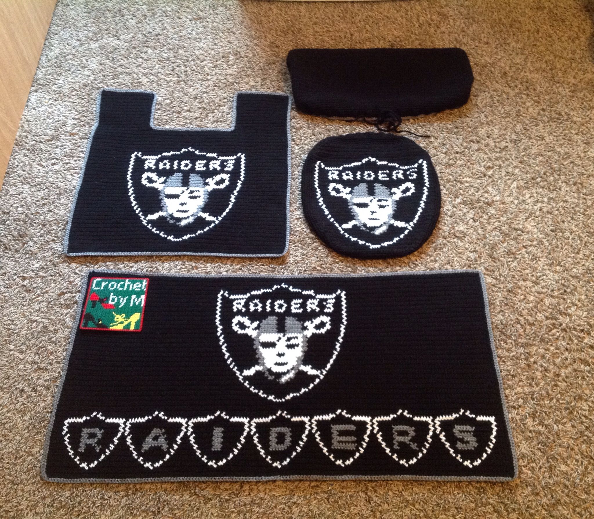 Crochet Raiders Bathroom Set