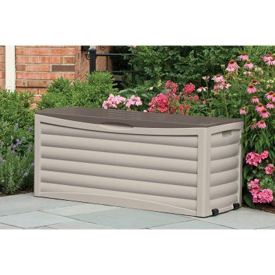Outdoor Suncast Extra Large 103 Gallon Patio Deck Box   DB10300   DB10300