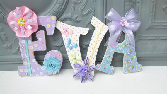Decorative Custom Letters with Embellishments, Decorative letters