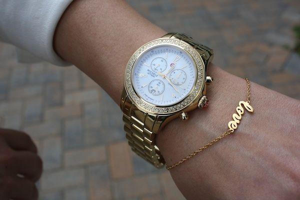 Michele Watch Jennifer Zeuner Via Southern Arrondist Love Gold Michelewatch Jenniferzeuner Time Accessorize