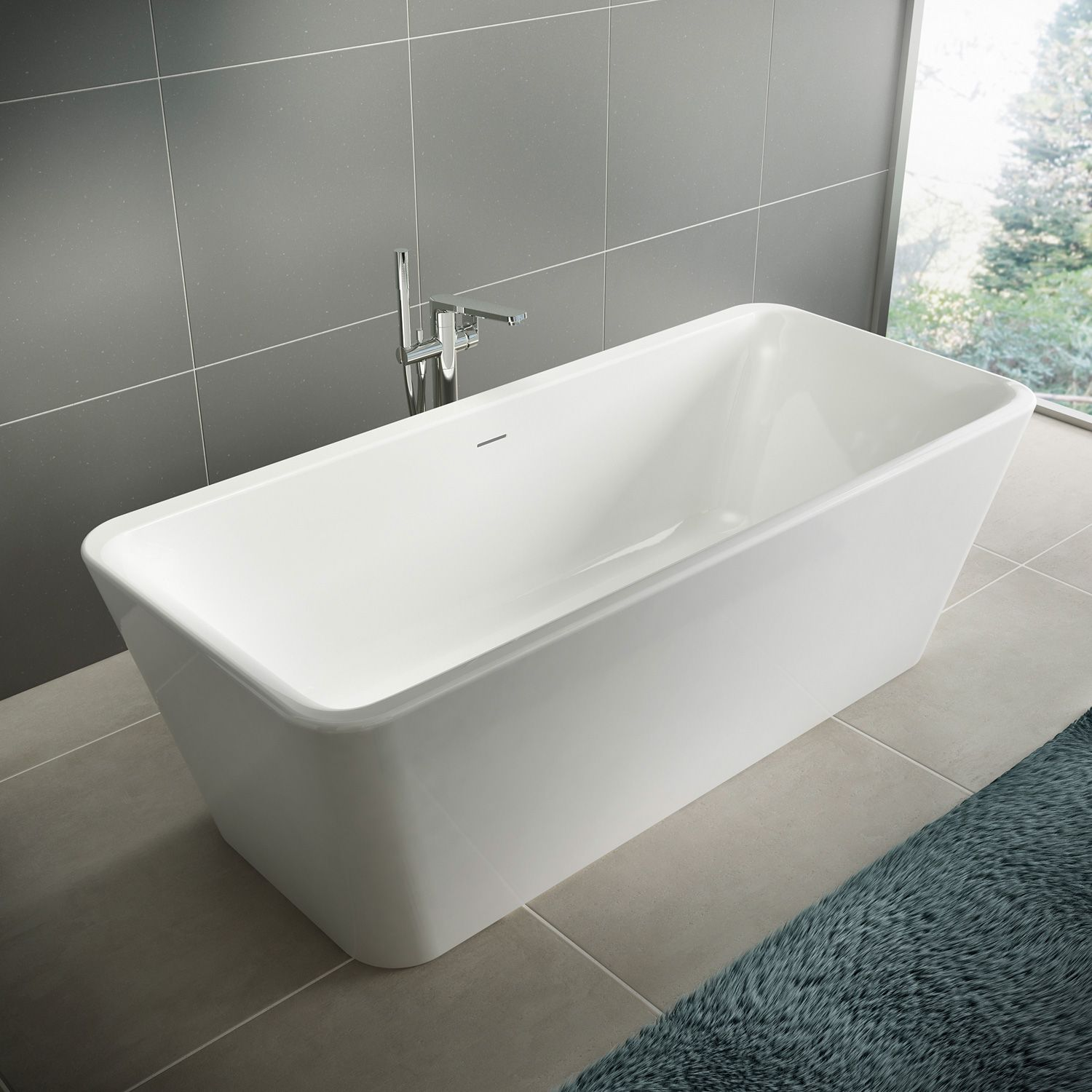 Ideal Standard Tonic Ii Freestanding Bath White Without Filling Function E398101 Free Standing Bath Bath Bathtub