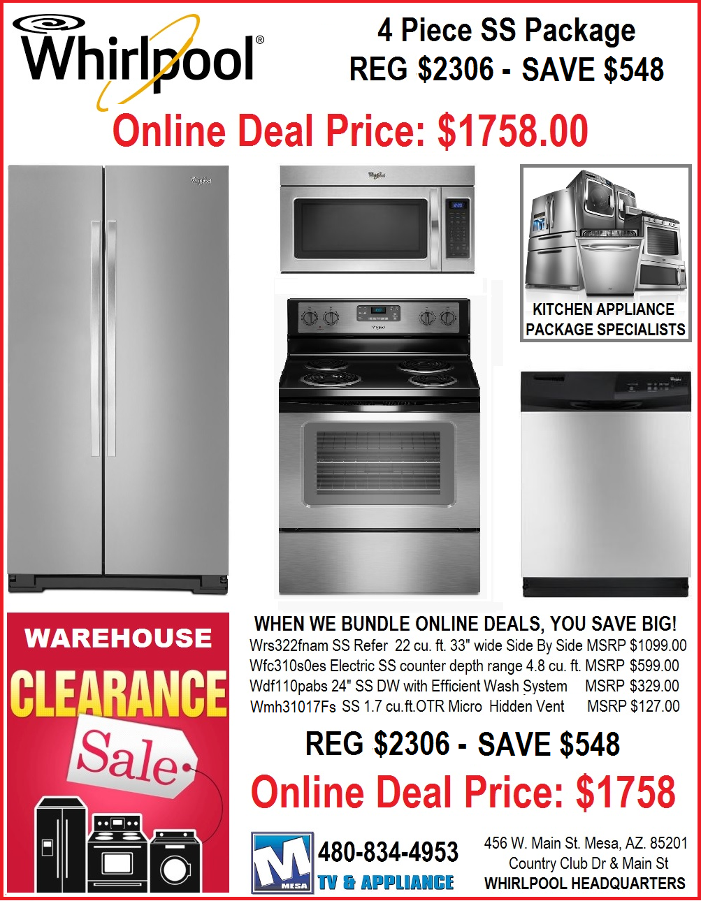 Appliances Packages Sale Discount Whirlpool Kitchen Appliance Packages Mesa Az Discount