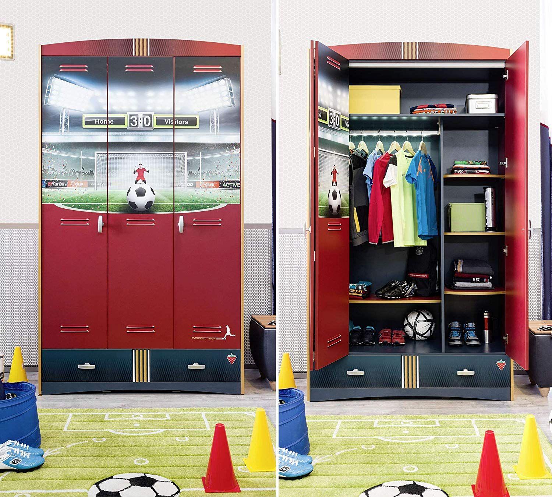 Komplette Kinderzimmer Einrichtung für Fußball Fans