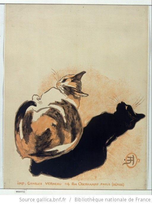 [A la Bodinière ... Exposition de l'oeuvre dessiné et peint de T.A.Steinlen du 10 avril au 15 mai 1894] : [affiche avant la lettre] / [Monogramme Steinlen] - 1