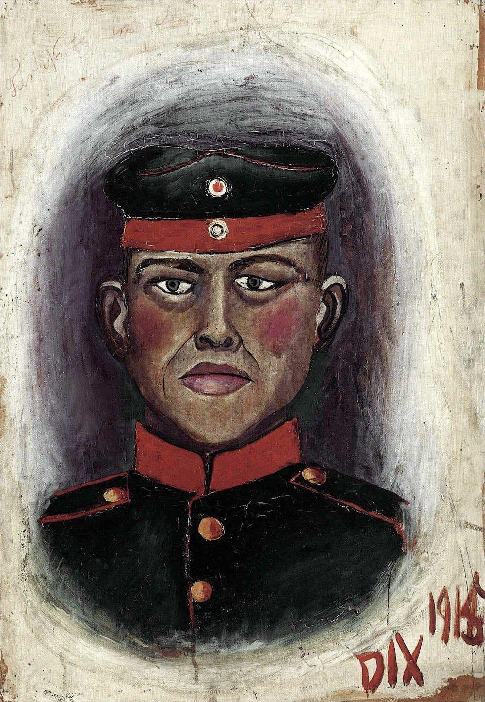 Risultati immagini per otto dix autoritratto da soldato