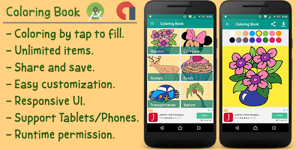 Kids Coloring Book for Android | Codecanyon collections