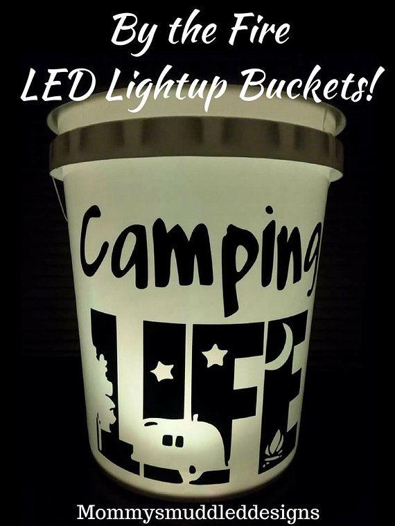 By The Fire Led Light Bucket Campfire Light Up Bucket