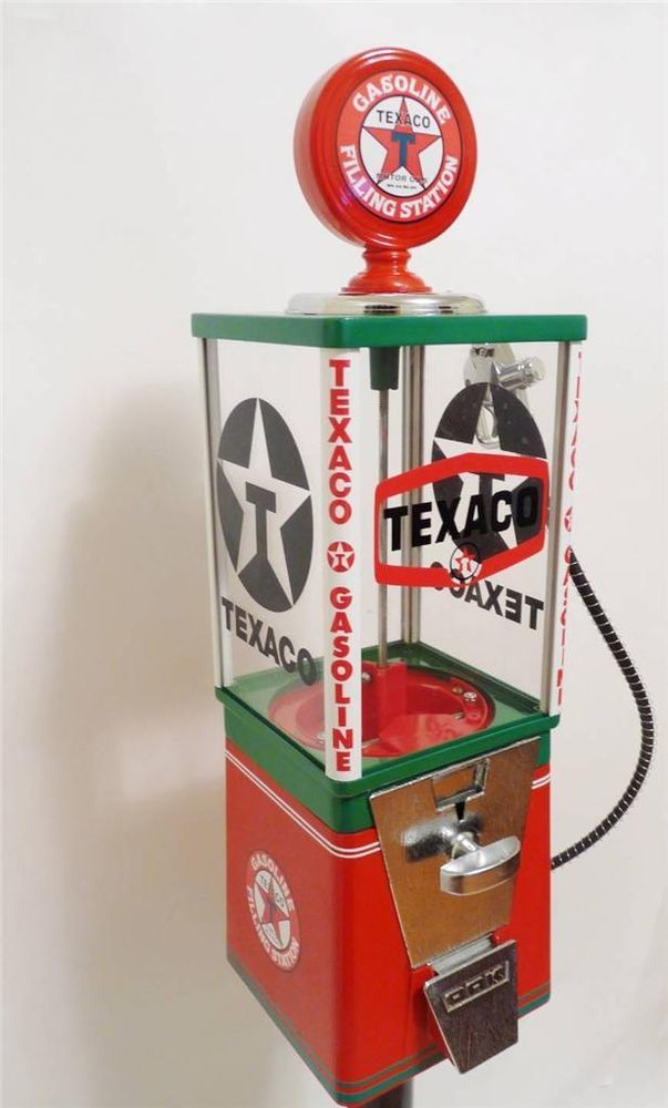 TEXACO GAS PUMP Oak vintage gumball machine coin op original candy machine #OAK