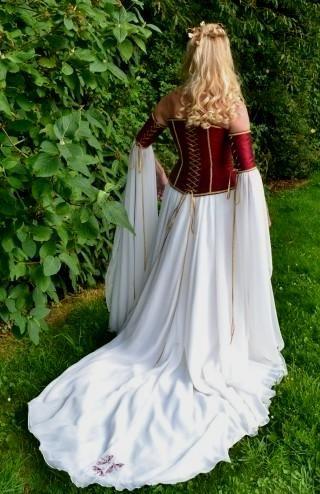 Medieval Wedding Gown, Elvish Dress, Renaissance Gown, Pre ...