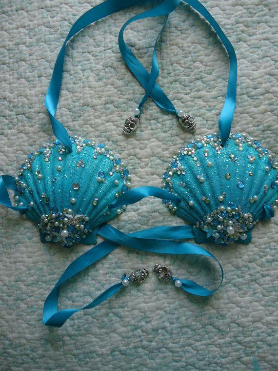 50d20fd788 Custom Mermaid Shell Bra by PrettyGirlDancewear on Etsy