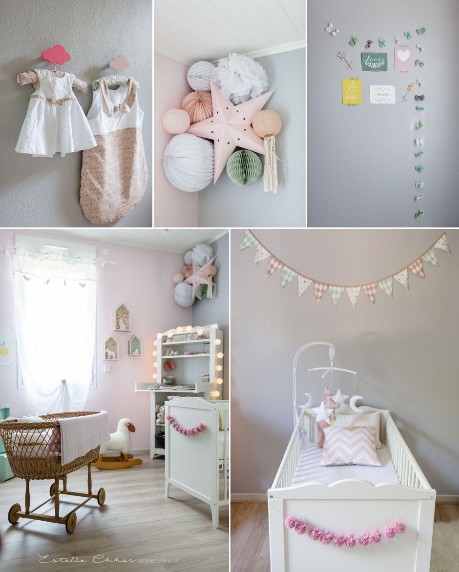 Idée Déco Chambre Bébé Fille Rose Gris Vert Deau Chambres Bébé à