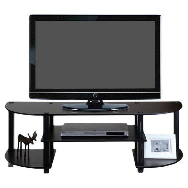 Wood TV Stand Entertainment Corner Flatscreen Plasma Television Furniture  Gaming #Unbranded
