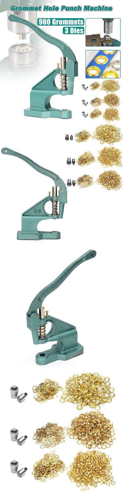 Eyelets 28137: Green Eyelet Hole Punch Machine Hand Press Steel