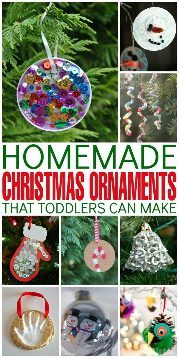 homemade christmas ornaments that toddlers can make to hang from your christmas tree