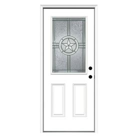 Reliabilt Half Lite Prehung Inswing Steel Entry Door