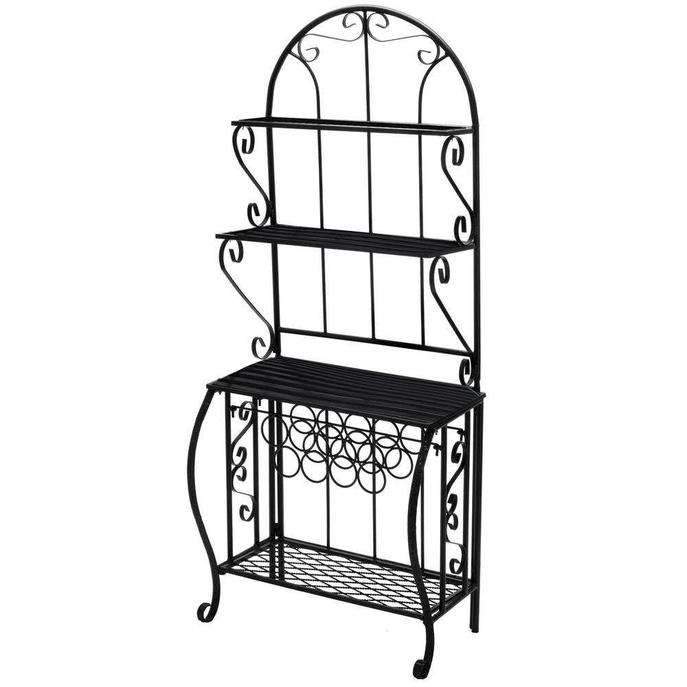 Oakland Living Baker Rack With Wine Holder Bakers Rack Outdoor