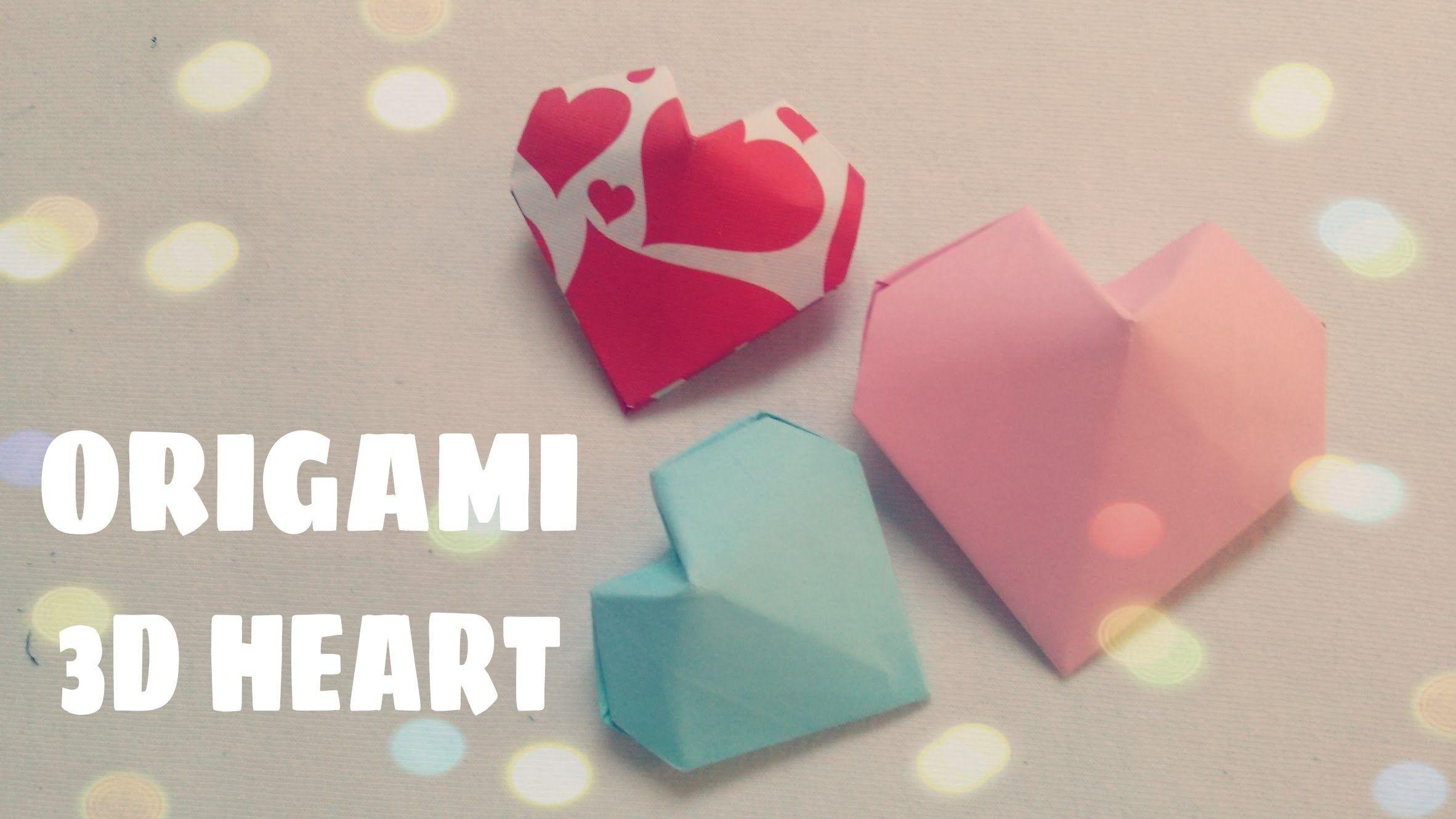 Origami Herz 3d