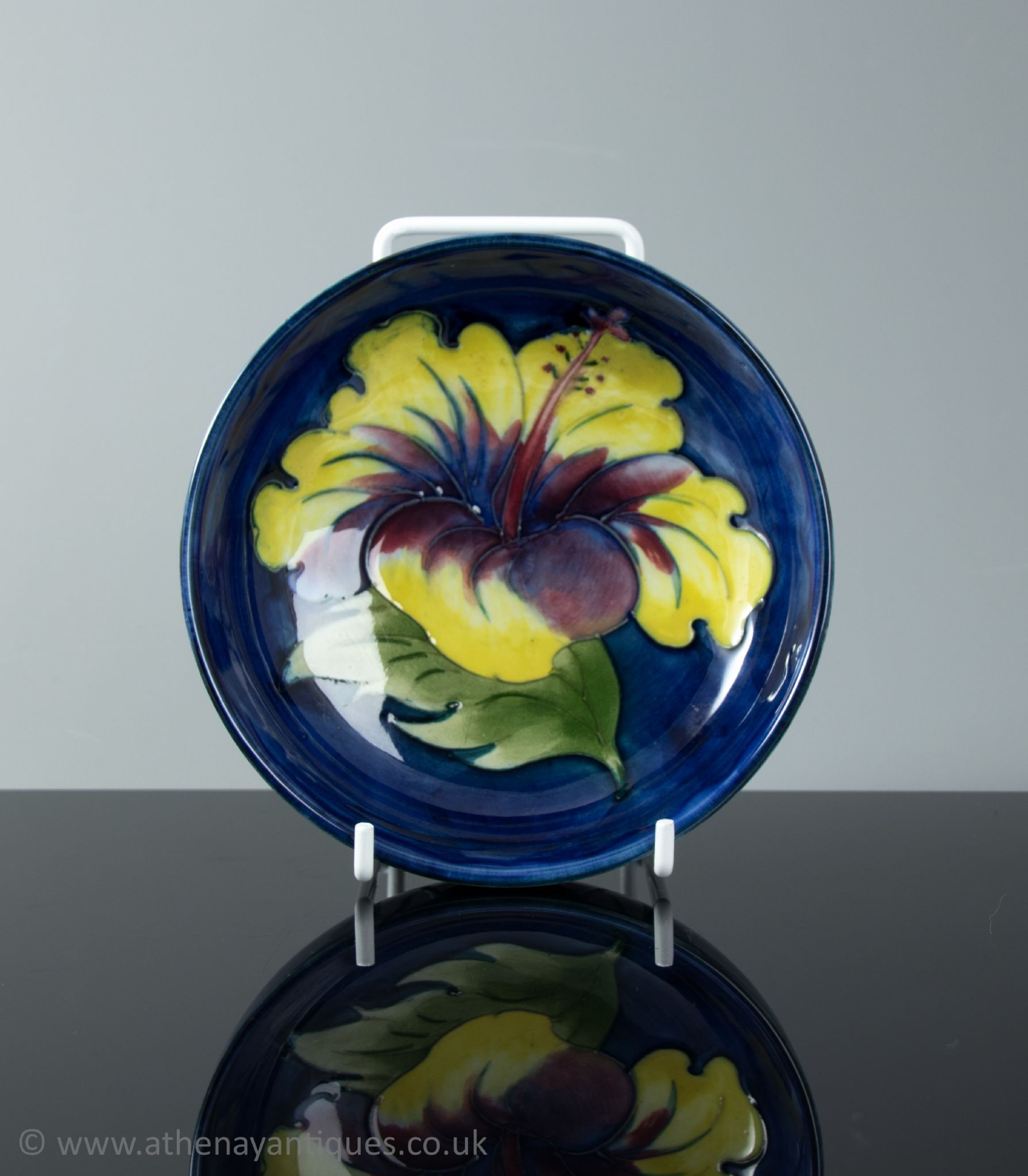 Moorcroft Hibiscus Pattern Small Footed Bowl | Moorcroft
