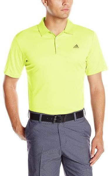 60d1cb35 Adidas Men's Climacool Debossed 3-Stripes Golf Polo Shirt | Deal On ...