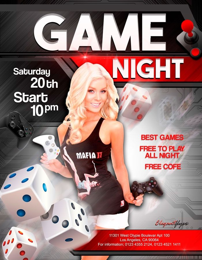 Game Night Flyer Templates Download Free