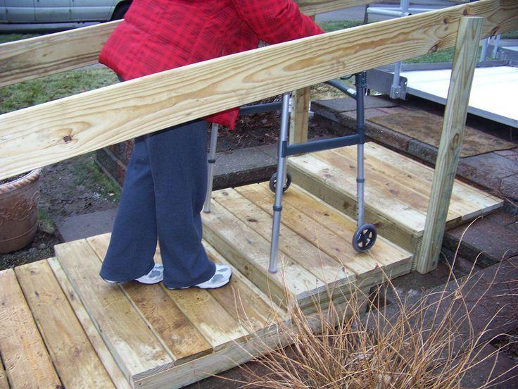 Image result for walker/handicap stairs Deck steps