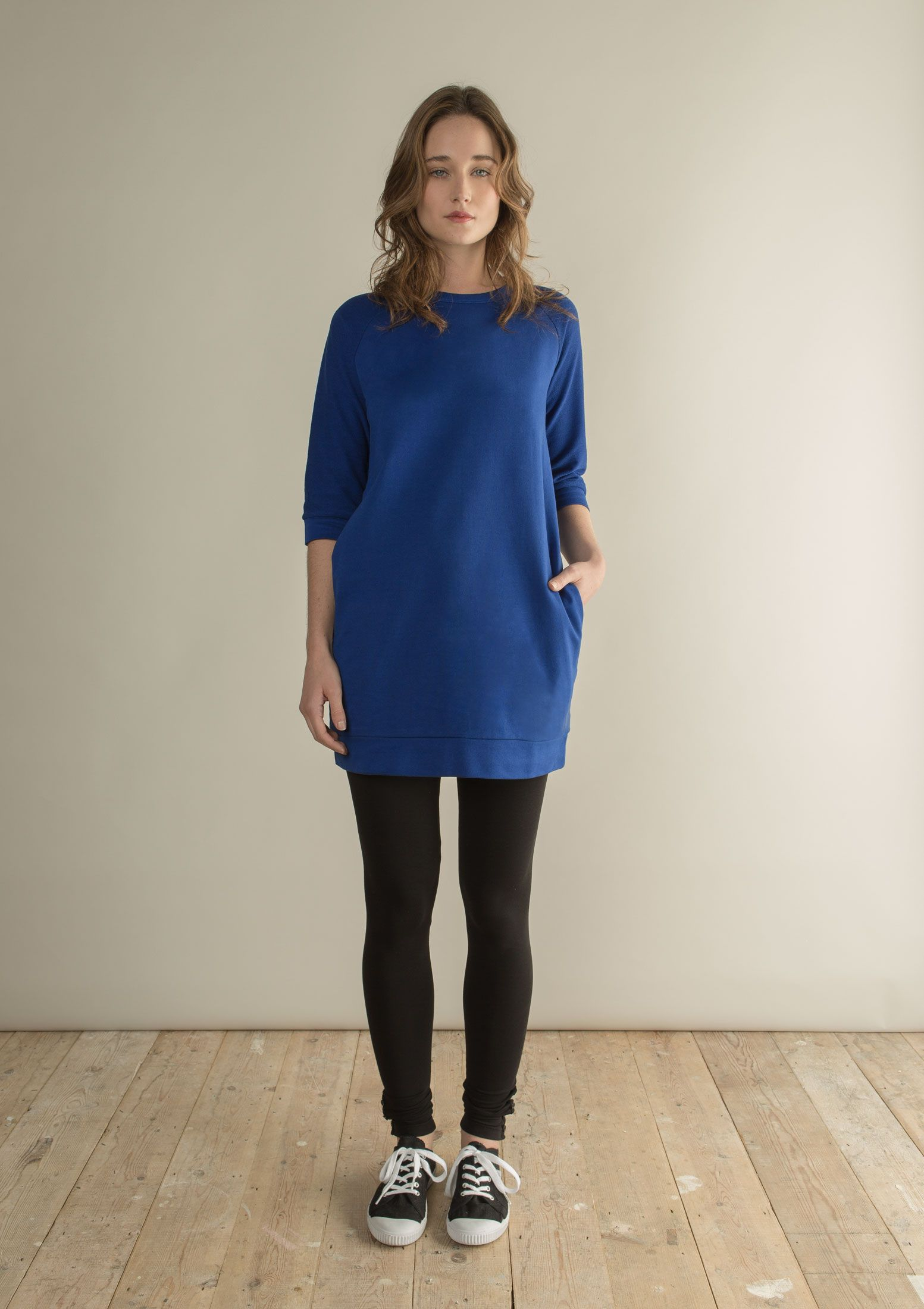 LOOPBACK SWEATER TUNIC by Home @Luvocracy |