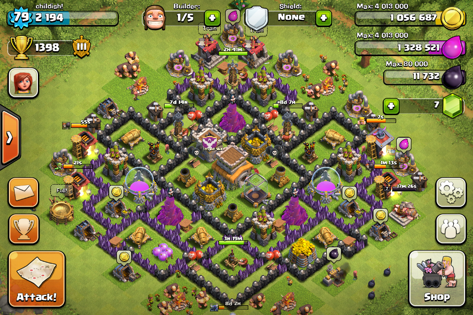 Clash of Clans protect resources base which heroes and big bombs inside of it   Gamatrix   Clash of Clans Base   Pinterest   Big bomb
