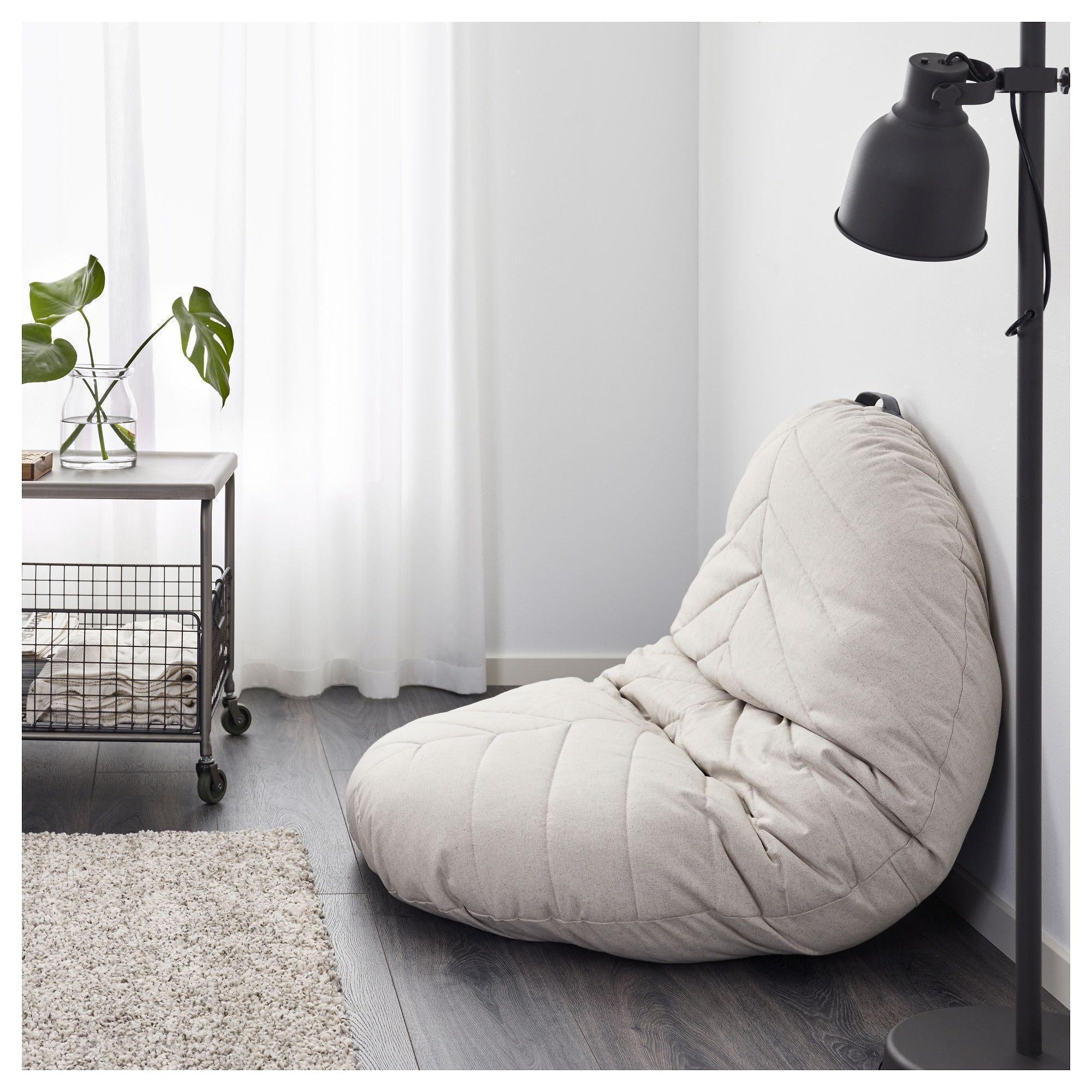 Dihult Katorp Natural Pouffe Ikea Large Floor Pillows Floor Pillows Pouffe