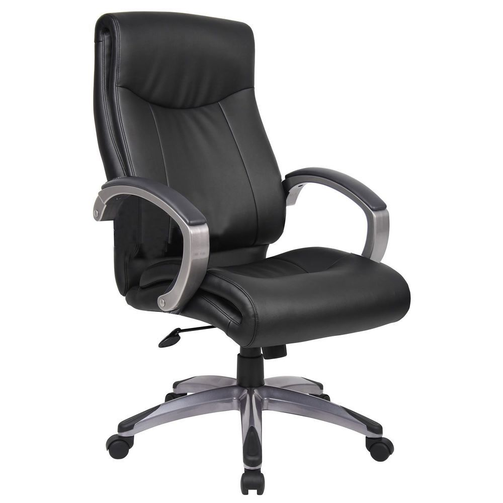 Leather Executive Chair High Back Black Adjustable Seat Swivel Office Furniture Office Chair Leather Office Chair Black Leather Chair