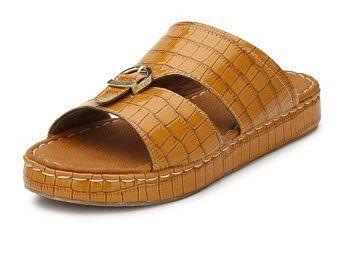 1b19ef98634b Handmade Brown Leather Arabic Muslim Sandals Slippers For Men Flip Flops  Sliders - Create Listing - Etsy