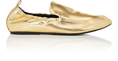 LANVIN Metallic Leather Slippers. #lanvin #shoes #flats