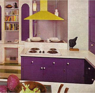 Zweig Kitsch N Stuff Flashback 1970s Purple And Yellow Kitchen
