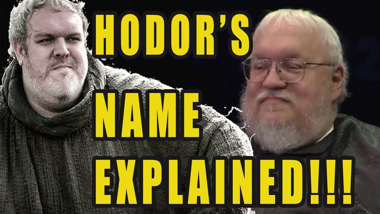 How Hodor Got His Name - Game of Thrones - Season 6 Episode 5 SPOILERS!!! - Videot --> http://www.comics2film.com/how-hodor-got-his-name-game-of-thrones-season-6-episode-5-spoilers/  #GameofThrones