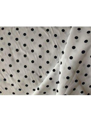 fa4406d0 Fastvævet, 100% bomuld. Hvid med sort prik | Fabric | Bomuld og Sort