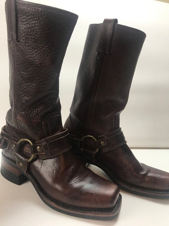 Frye womans 6 1/2 B Western harness boots in 2019 | Products | Boots