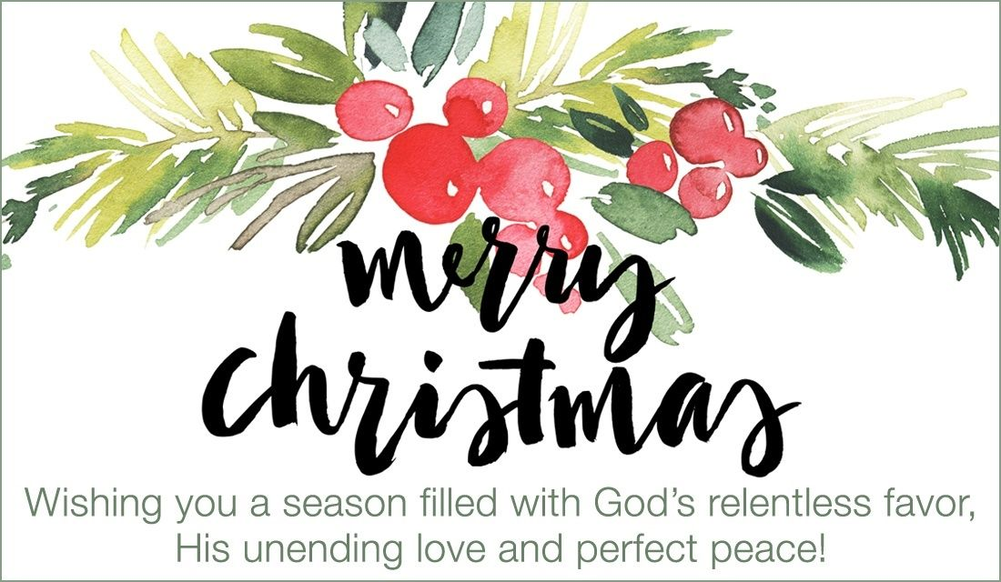 Favor, Love and Peace Watercolor christmas cards