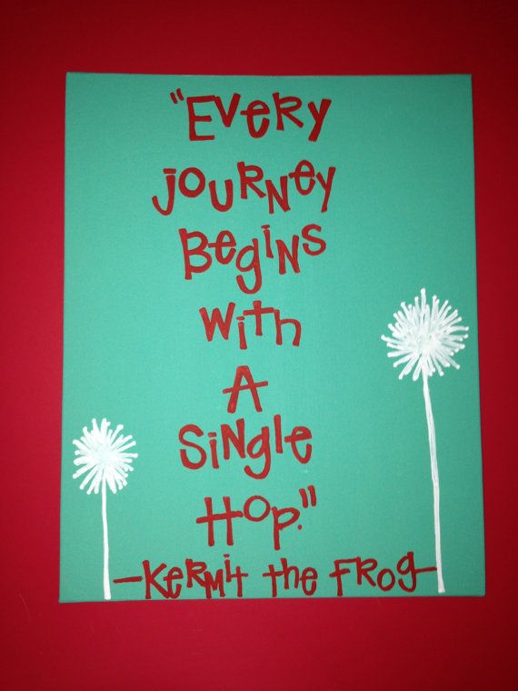 Kermit The Frog Quote On Canvas Painting Ideas Frog Quotes