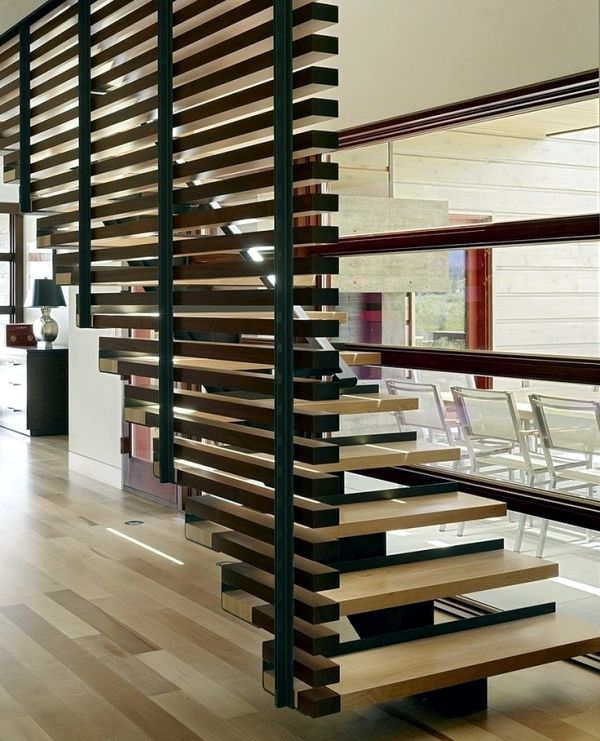 32 Floating Staircase Ideas For Contemporary Home: 30 Ideas For Partitions For Every Home And Every Taste