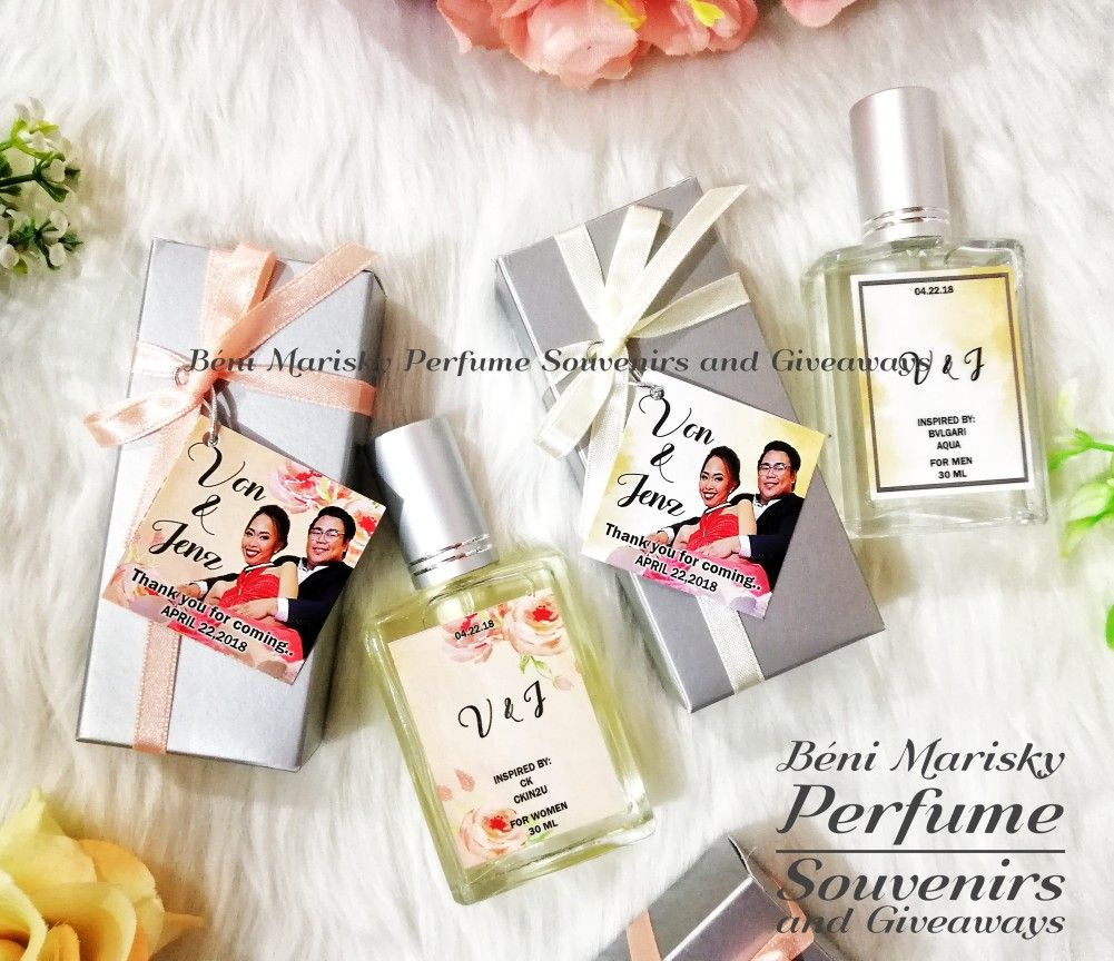 60 Pcs Of 30ml For Ms. Jenz And Von Wedding Souvenirs