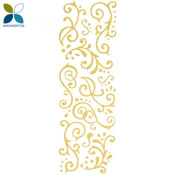 Gold Glitter Flourish Stickers Scrapbooking Gold Glitter