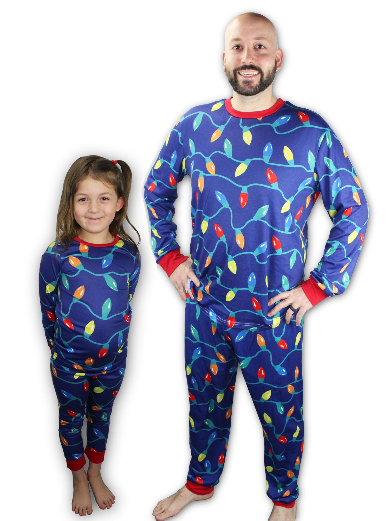 Matching Christmas Lights Pajamas for kids, adults, women