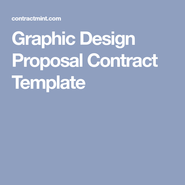Graphic Design Proposal Contract Template Communication Ilration Layout