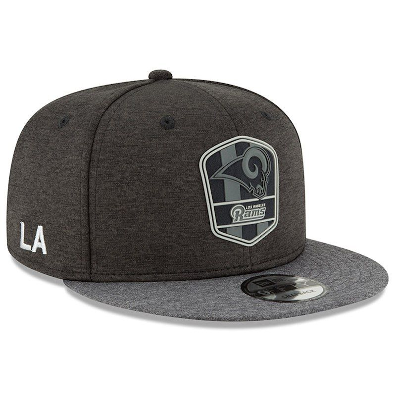 Los Angeles Rams New Era 2018 NFL Sideline Road Black 9FIFTY Snapback  Adjustable Hat – Heather Black Heather Charcoal 3761e70de5e1