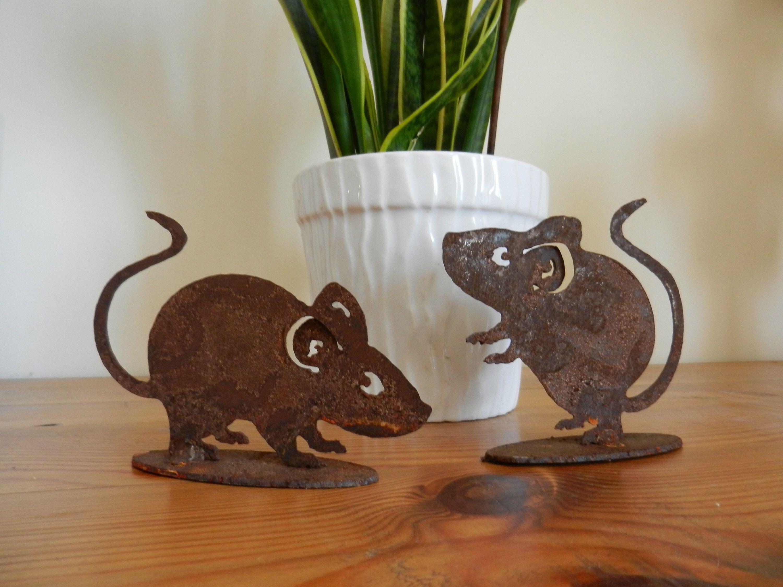 Rusty Metal Mice Gift Tiny Mice Home Decor Cute Mice