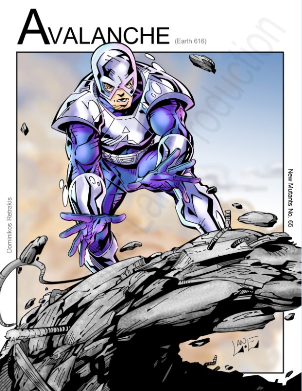 Avalanche (Marvel Comics) by Nickolas Lane | My Artwork of