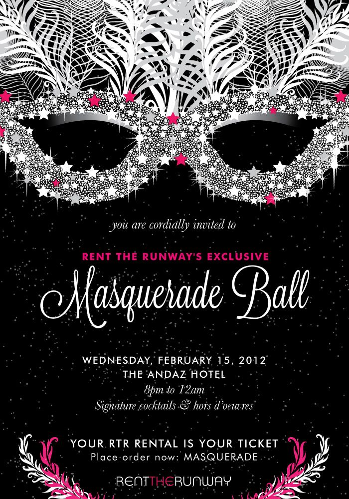 Exclusive Invite to Rent the Runway\'s Masquerade Ball « Rtr Events ...