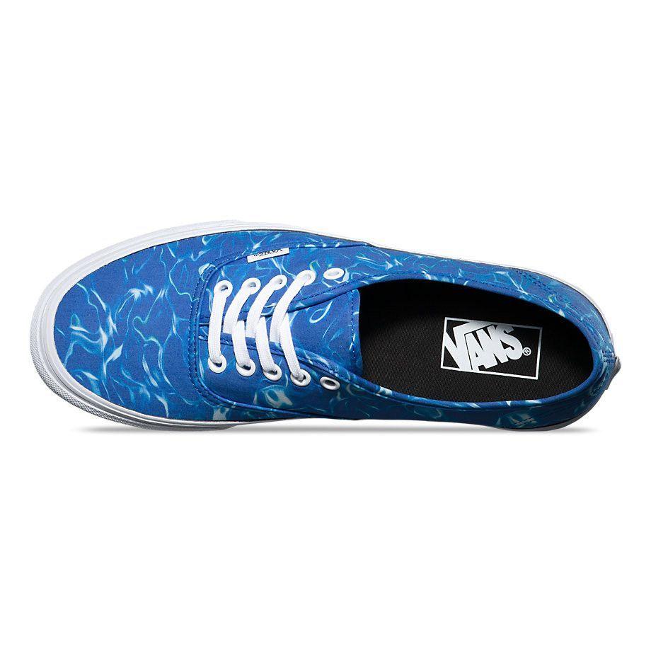 8f8751e272ed Vans Men s Authentic Shoes - water - Strong Blue True White
