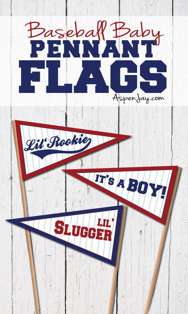Baseball Baby Pennant Flags | Baby Shower | Pinterest | Baseball ...