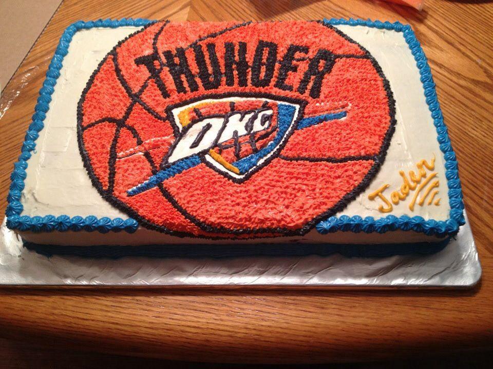 OKC Thunder cake | My creations | Thunder cake, Birthday cake, Sweet ...