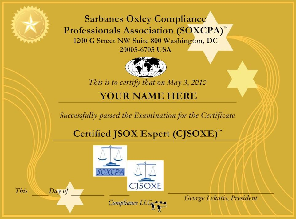Certified Japanese Sarbanes Oxley Expert Cjsoxe Httpwww